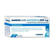 ACETILCISTEINA SANDOZ CARE 600 mg COMPRIMIDOS EFERVESCENTES , 10 comprimidos
