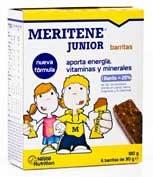 Meritene junior barritas cereales (30 g 6 bar chocolate c/ leche)