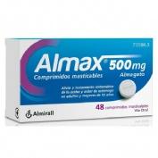 ALMAX 500 mg COMPRIMIDOS MASTICABLES,48 comprimidos