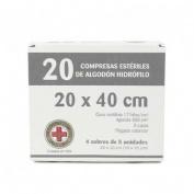 Gasa esteril algodon hidrofilo compresas (Sobre 5 u  20 u)